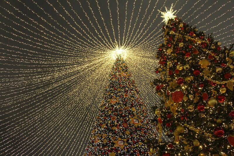 Новогодняя Москва 2019. Прогулка по центру города в Рождество