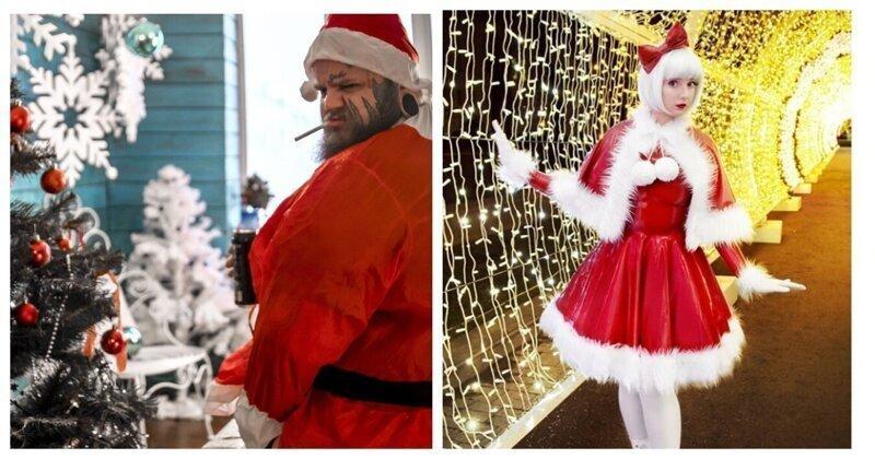 Такие разные Деды Морозы и Снегурочки
