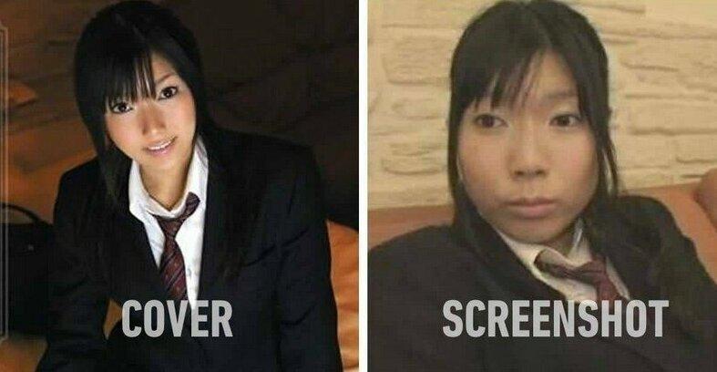 Большая разница: японские порноактрисы на обложках и в жизни