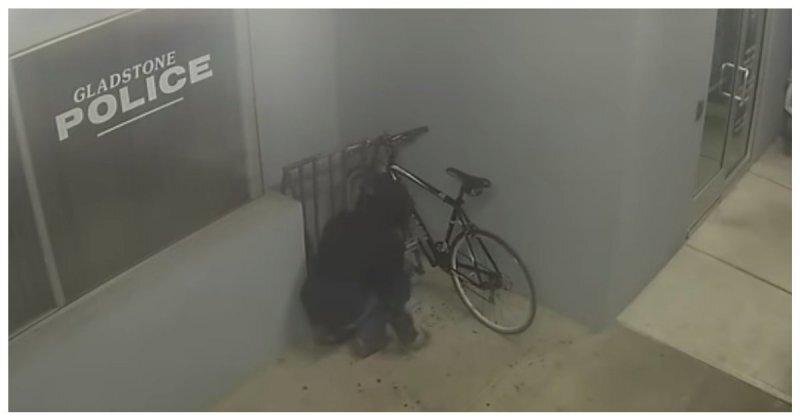 В США вор выбрал самое неудачное место для кражи велосипеда