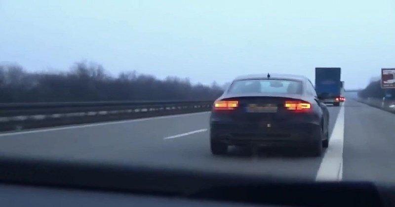Погоня за угнанным автомобилем на скоростном немецком автобане