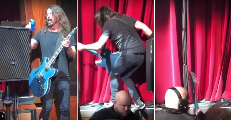 Пьяный экс-барабанщик Nirvana рухнул со сцены во время выступления: видео