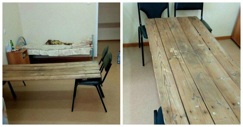 Оптимизация по-русски: в больнице Пензенской области появились кровати из досок и стульев