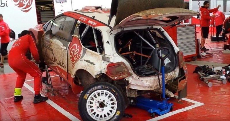 Посмотрите, как механики Citroen восстановили разбитый раллийный автомобиль за полчаса