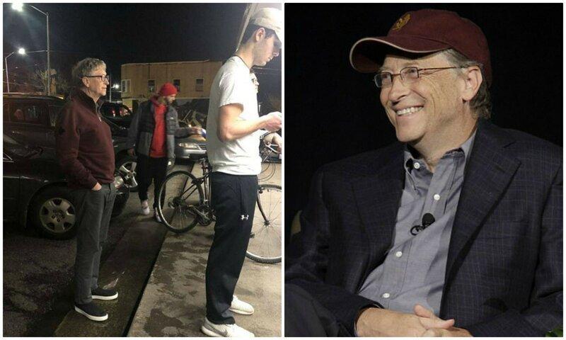 Билла Гейтса сфотографировали в очереди за бургером