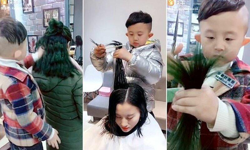 Шестилетний парикмахер из Китая