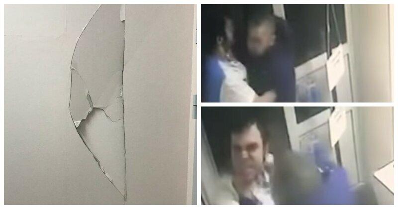 Долго лечат: житель Новосибирска напал на врача и проломил им стену