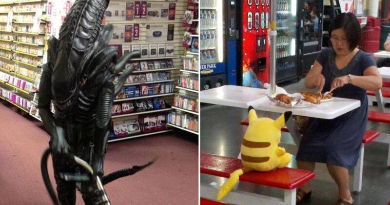 Самые странные покупатели супермаркетов, которые точно живут в своем мире