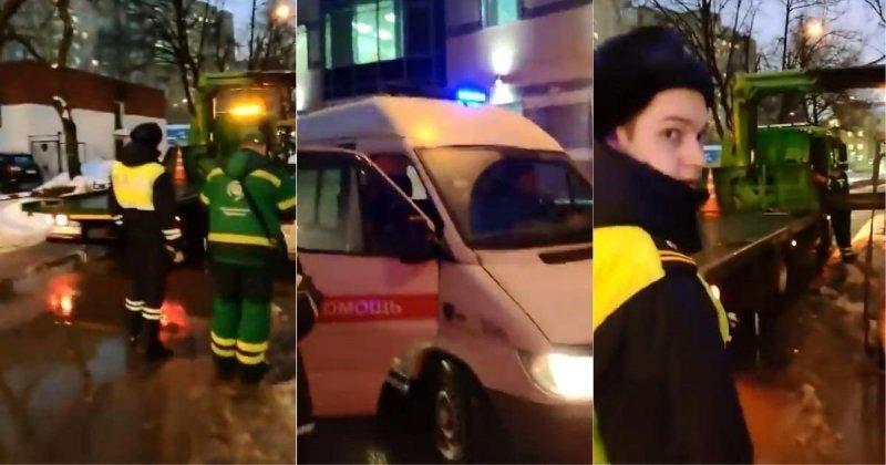 Московские эвакуаторщики не пропускают скорую помощь с включенными спецсигналами