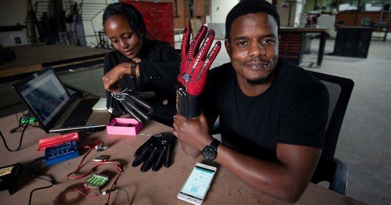 25-летний кениец изобрел умные перчатки, которые преобразуют язык жестов в речь