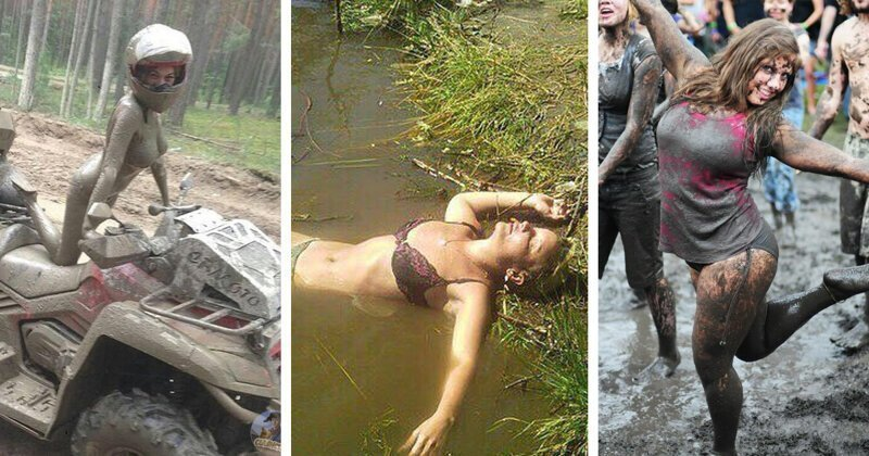 20+ простушек, обожающих месить грязь