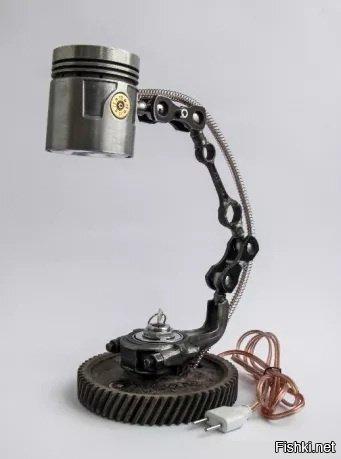 Уникальная настольная лампа