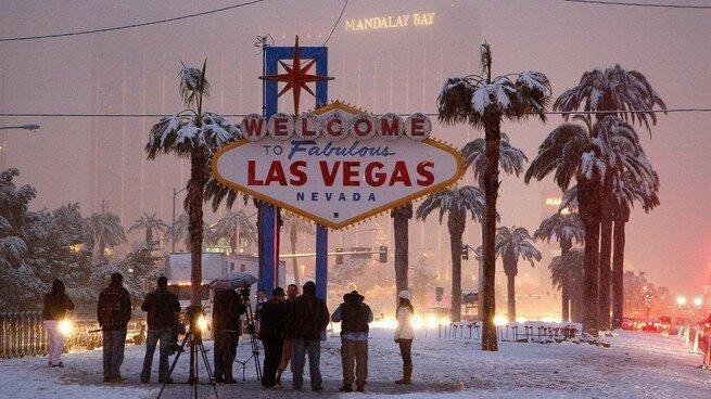 Путин, ты что творишь? Снег выпал в Лас-Вегасе второй раз за неделю