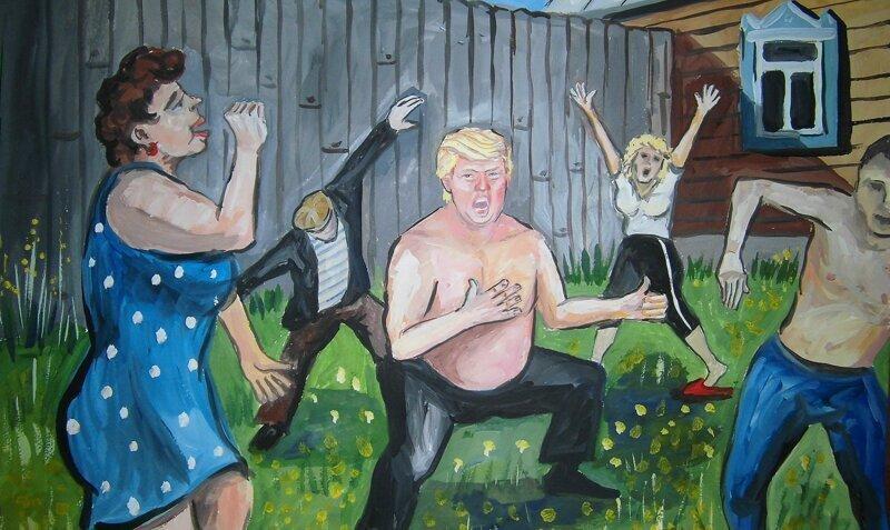 Если бы Дональд Трамп жил в России: творения ульяновского художника