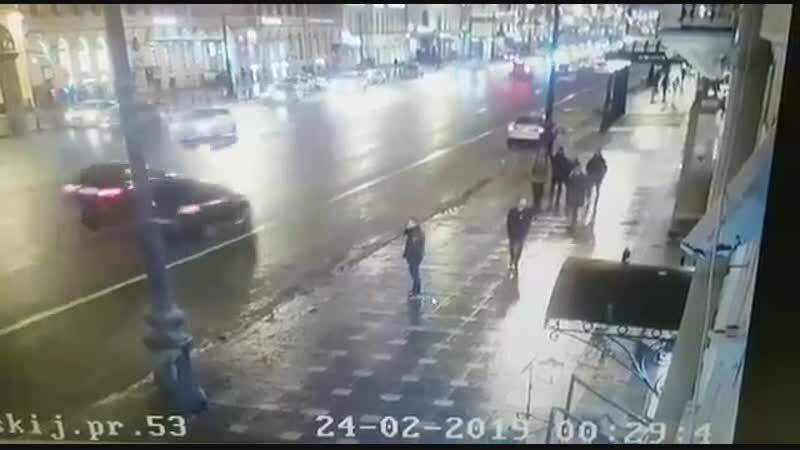 Наезд на пешеходов в Питере 24.02.2019