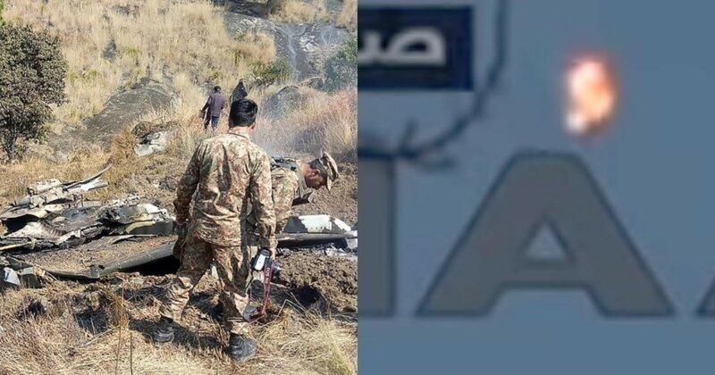 В сети появилось видео пакистанской атаки на самолёт ВВС Индии