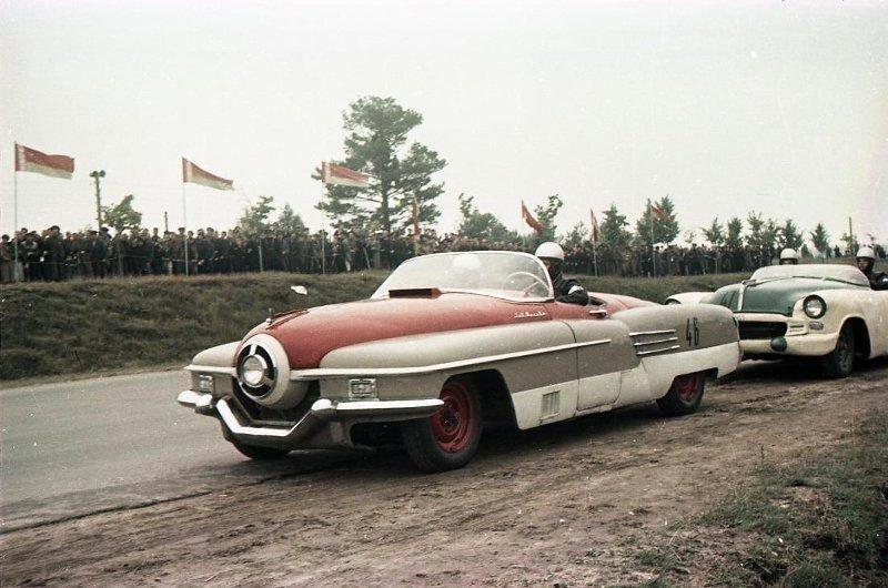 Архивные фотографии чемпионата СССР по автомобильным гонкам 1956 года