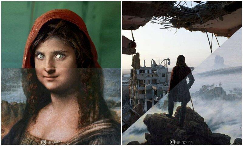 Сильные фото-коллажи о контрастах двух миров, в которых мы живем