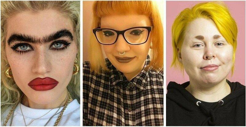 25 девушек с такими жуткими бровями, что у них просто необходимо отобрать косметику