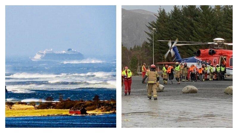 Круизный лайнер Viking Sky терпит бедствие у берегов Норвегии