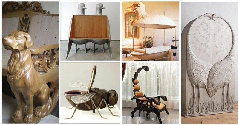 Звериный креатив: 30 примеров мебели, в стиле анимал