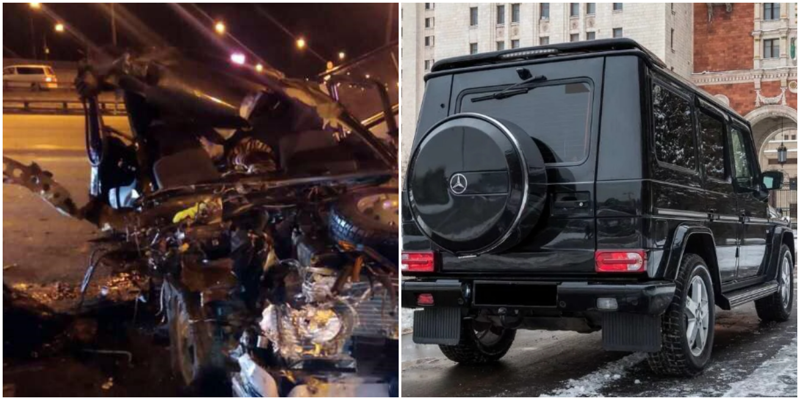 "В столице мажор на Mercedes въехал в ""Ниву"". Погибли женщина и её дочь"