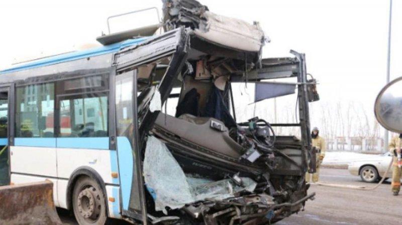 Авария дня. Три автобуса столкнулись в Нур-Султане
