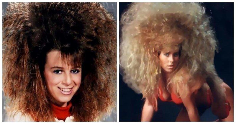 Фотографии модниц 80-х с невероятно гигантскими шевелюрами