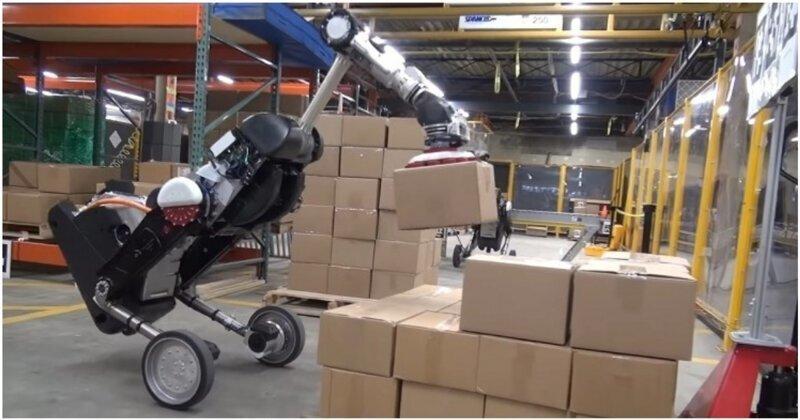 Boston Dynamics показала обновленную версию робота на колесах
