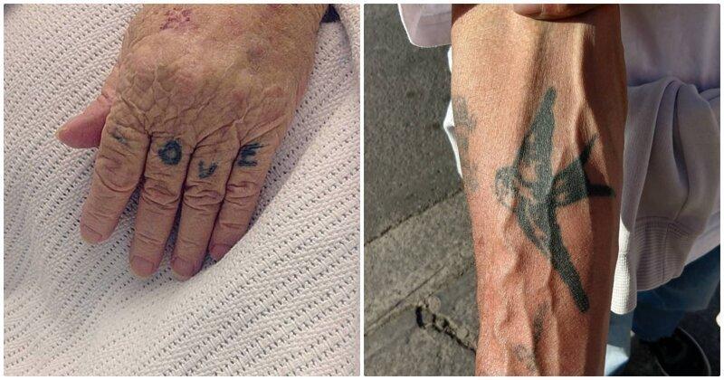 20 поразительных и наглядных примеров, демонстрирующих, что будет с татуировками в старости