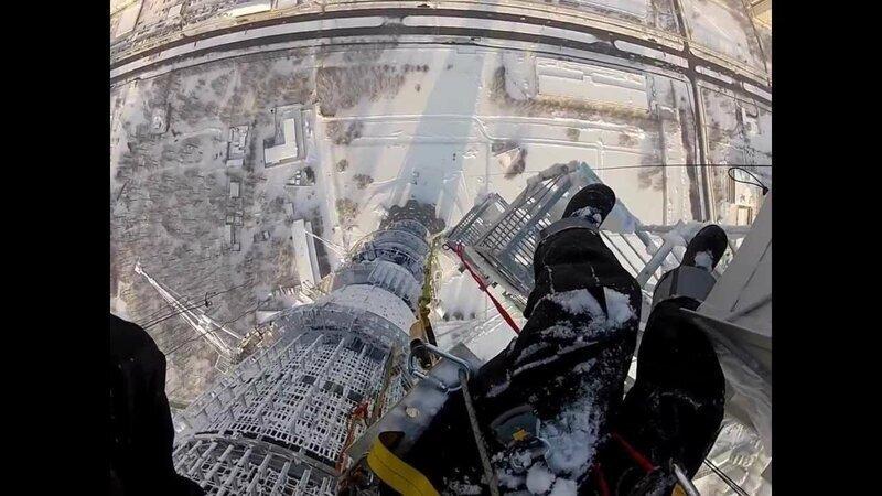 Высотные работы на останкинской башне