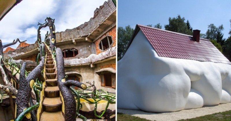 10 удивительных домов, которые построили шутники-архитекторы