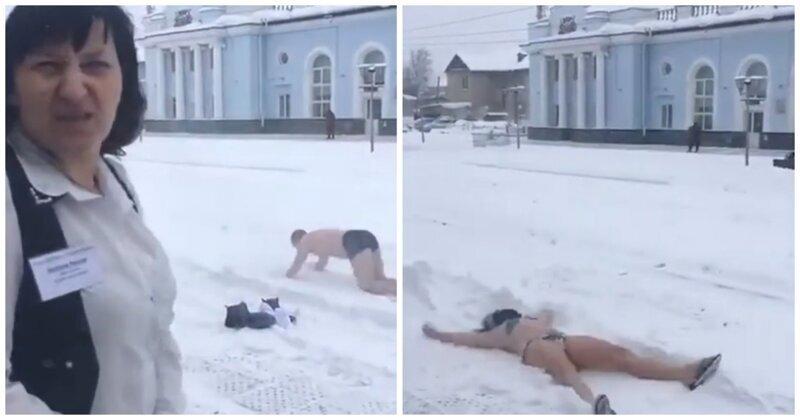 Неожиданная реакция австралийских туристов на снег в России