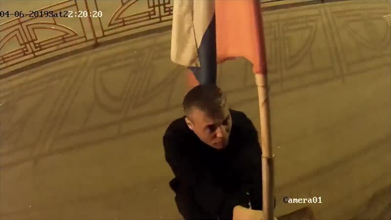 Похищение флага из иркутского штаба Навального