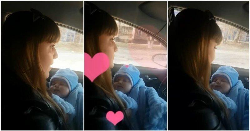 """""""Пелёнки, каши - это неизбежность"""", —  яжемать с младенцем на руках за рулем автомобиля"""