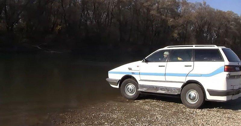 Уникальный автомобиль-амфибия, созданный на базе универсала Volkswagen Passat