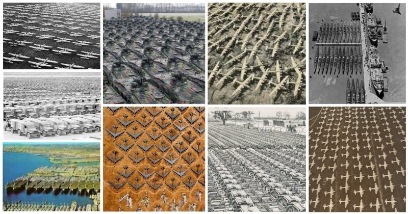 30 снимков грандиозного скопления техники, снятых с высоты птичьего полета