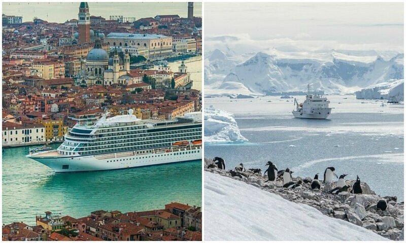 По морям: живописные фото круизных лайнеров из разных точек планеты