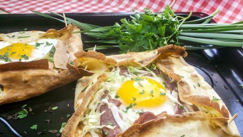 Французское утро - креп галет на Завтрак, который можно взять с собой