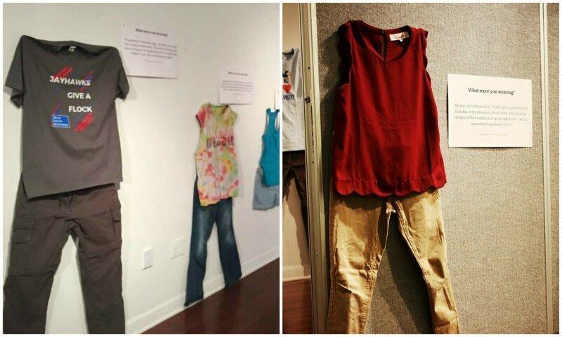 Жуткая выставка: жертвы изнасилования показали, во что были одеты в день преступления