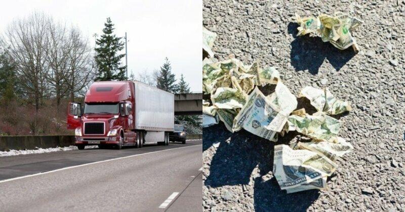 В Мичигане с грузовика упала коробка с $30 000 - деньги разобрали прохожие