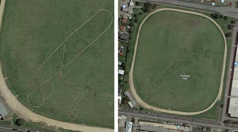 В Мельбурне на полях трёх разных парков кто-то изобразил пенисы, которые отчётливо видны с воздуха