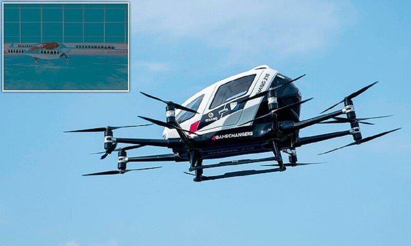 В Германии прошло испытания первое воздушное такси