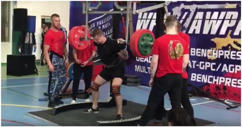 Российский спортсмен получил тяжелую травму, пытаясь поднять штангу с большим весом