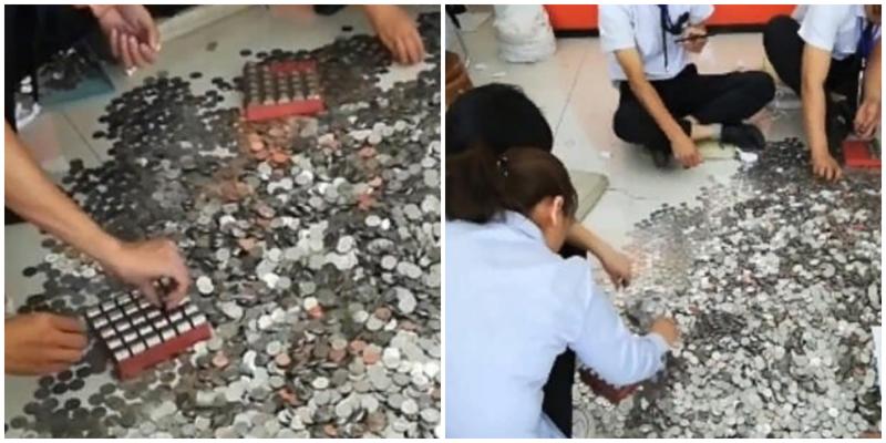 Китаянка расплатилась за автомобиль 13 тысячами монет, которые работники салона считали три дня
