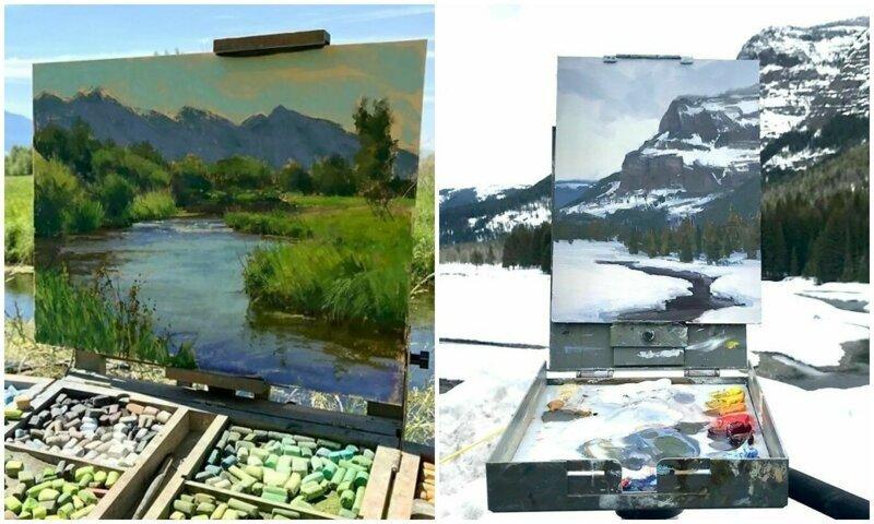 30 картин, обрамленных пейзажами природы