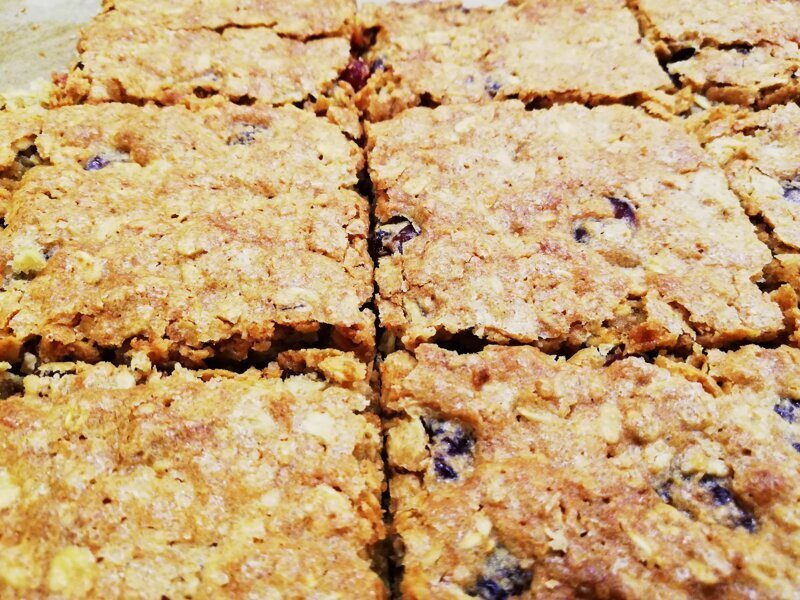Овсяные печенья с сушёной вишней