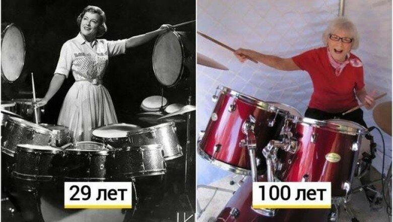 106-летняя барабанщица Виола Смит по сей день продолжает играть и пить вино