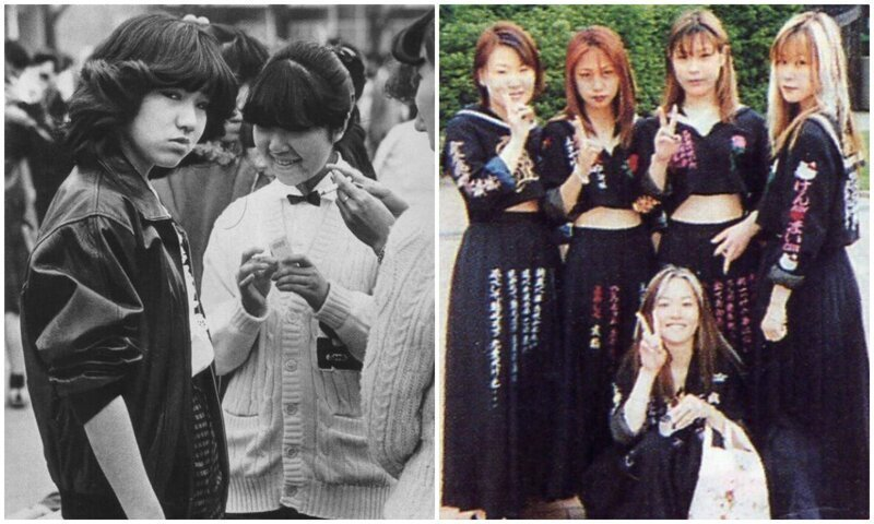 Сукэбан: дерзкие девчонки, которые держали в страхе всю Японию