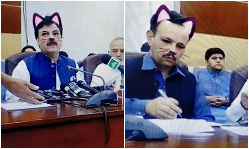 """Конфуз на конференции: пакистанские чиновники и """"кошачий"""" фильтр"""